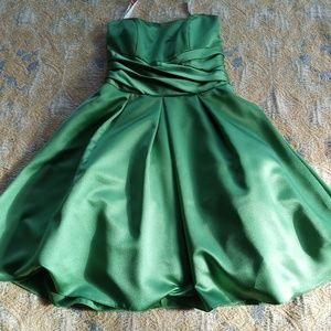 Green mini dress